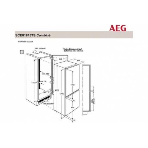 AEG Šaldytuvas AEG SCE81816TS 549,00EUR