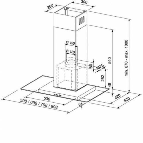 FRANKE Gartraukis FRANKE GLASS LINEAR FGL 805-P XS 386,00EUR
