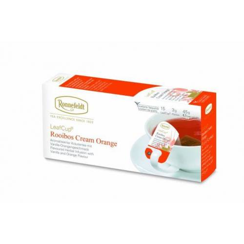 Žolelių arbata LeafCup® Rooibos Cream Orange 15 vnt.