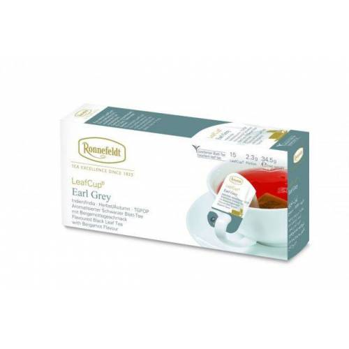 Ronnefeld arbata Juodoji arbata LeafCup® Earl grey 15 vnt. 5,99EUR