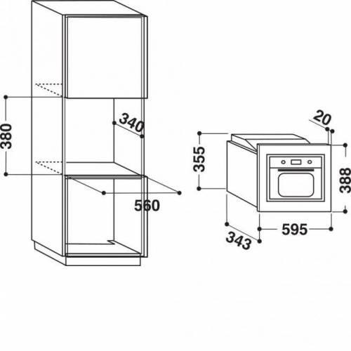 WHIRLPOOL Įmontuojama mikrobangų krosnelė Whirlpool AMW 140 IX 138,99EUR