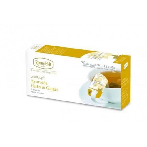 Ronnefeld arbata Biri žolelių arbata Ajurveda Herbs & Ginger 100 g €8.47