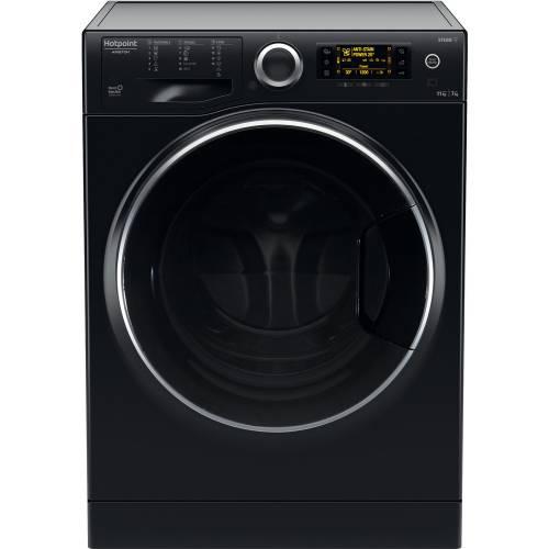 Hotpoint ARISTON Skalbimo mašina su džiovinimu Hotpoint Ariston RDD 1175238 KD VJ EU, juodos spalvos 499,00EUR