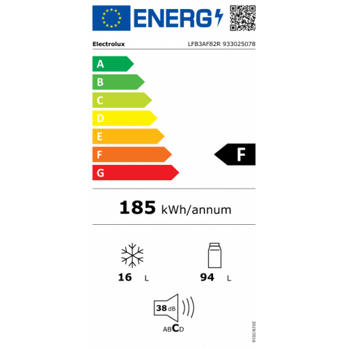ELECTROLUX Šaldytuvas Electrolux LFB3AF82R, įmontuojamas, 82 cm 329,00EUR