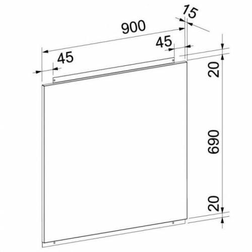 FRANKE Sienos plokštė FRANKE (90cm) 112.0056.038 86,00EUR